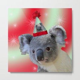 Christmas Koala Metal Print