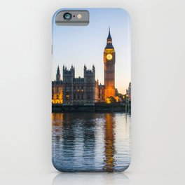 Big Ben During Sunset | London England Europe Cityscape Night Photography iPhone Case