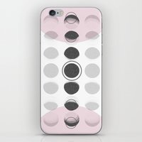moon phase iPhone & iPod Skins featuring Moon Phase by Emily Morris