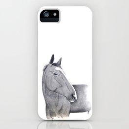 Charcoal Horse Portrait iPhone Case