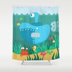 SUBMARINE (AQUATIC VEHICLES) Shower Curtain