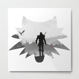 The white wolf Metal Print