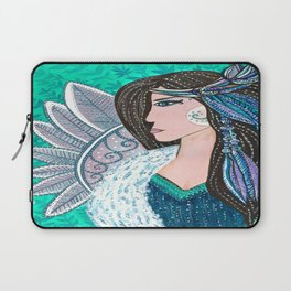She Wore Feathers In Her Hair Laptop Sleeve