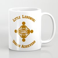 the big lebowski Mugs featuring Little Lebowski Urban Achievers  |  The Big Lebowski by Silvio Ledbetter