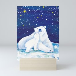 Polar bears, arctic animals Mini Art Print