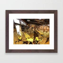 Monk bodhi dharma Framed Art Print