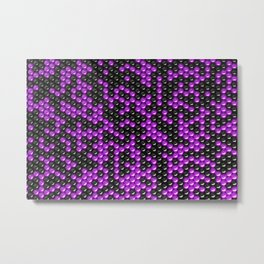 Pattern of black and purple spheres Metal Print