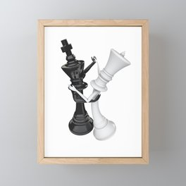 Chess dancers Framed Mini Art Print