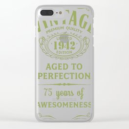 Green-Vintage-Limited-1942-Edition---75th-Birthday-Gift Clear iPhone Case