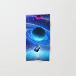 flying tardis in space Hand & Bath Towel