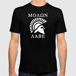 Molon Labe Spartan Helmet V2 T-shirt