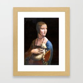 Leonardo da Vinci Lady with an Ermine Framed Art Print
