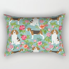 Beagle hawaiian dog pattern tropical pattern cute gifts for dog lover dog breeds Rectangular Pillow