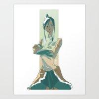 korra Art Prints featuring Korra by OliLai