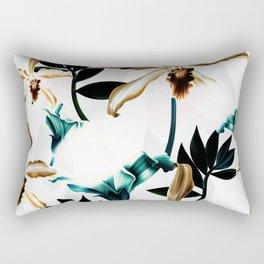 Abstract tropical nature painting I Rectangular Pillow