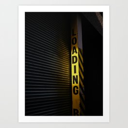 Urban street scene Yellow. Art Print