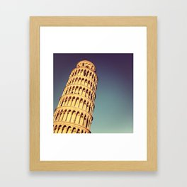It Leans Part Two Framed Art Print