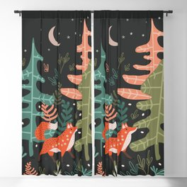 Evergreen Fox Tale Blackout Curtain