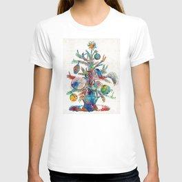Colorful Christmas Tree Art by Sharon Cummings T-shirt