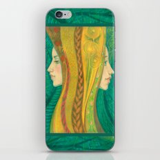 The Summer, pastel painting, visionary art, forest fantasy iPhone & iPod Skin