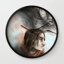 Wolf Girl Wall Clock