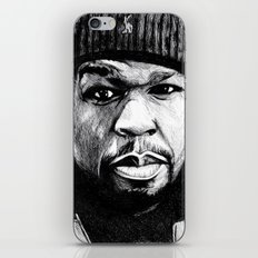 50 Cent Pen Drawing iPhone & iPod Skin
