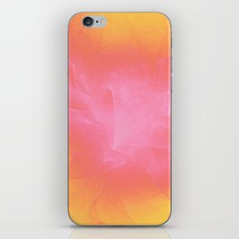 Ribbons of White Pink and Yellow iPhone Skin