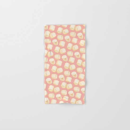 Marshmallow Pattern - Pink Hand & Bath Towel
