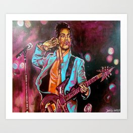 Purple Funk Art Print