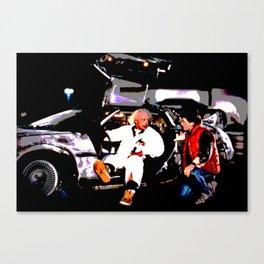 Back To The DeLorean Canvas Print