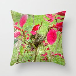 Mini Bird's Nest Throw Pillow