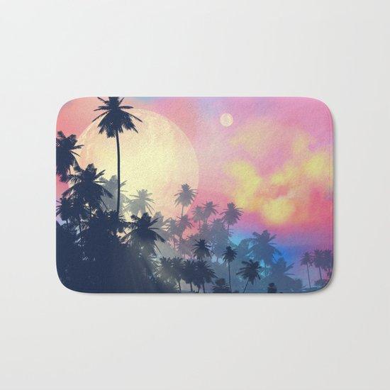 summer palms Bath Mat