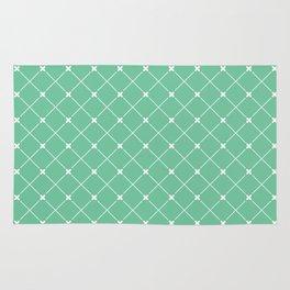 Geometrical abstract modern white green pattern Rug