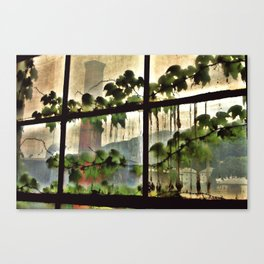Factory Window Canvas Print