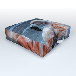 Splashing Flamingo Outdoor Floor Cushion