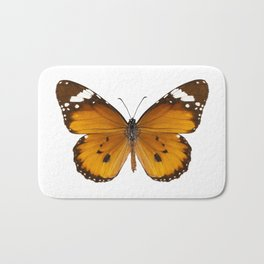 "Butterfly species danaus chrysippus ""plain tiger"" Bath Mat"