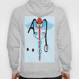 medical caduceus and stethoscope Hoody