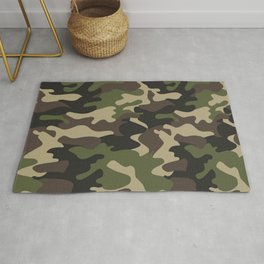 Military camouflage Rug