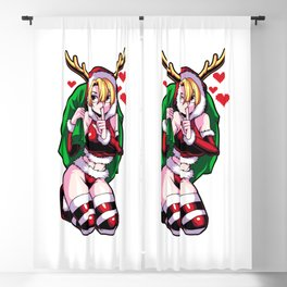 Sexy Anime Girl in Santa Claus Dress Blackout Curtain