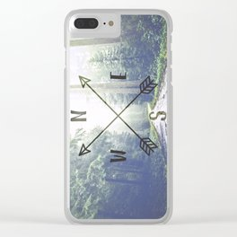 Forest Compass Clear iPhone Case