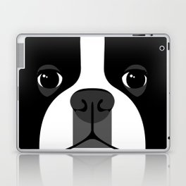 Boston Terrier Close Up Laptop & iPad Skin
