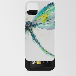 Watercolor Dragonfly iPhone Card Case
