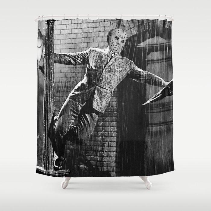 Jason Vorhees Sings In The Rain Shower Curtain