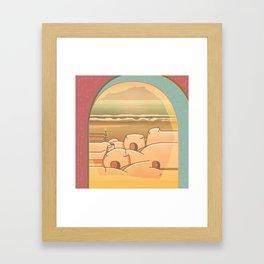 Beached Labyrinth Framed Art Print