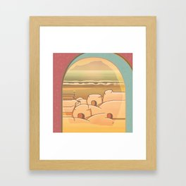 Beached Labyrinth Framed Art Print