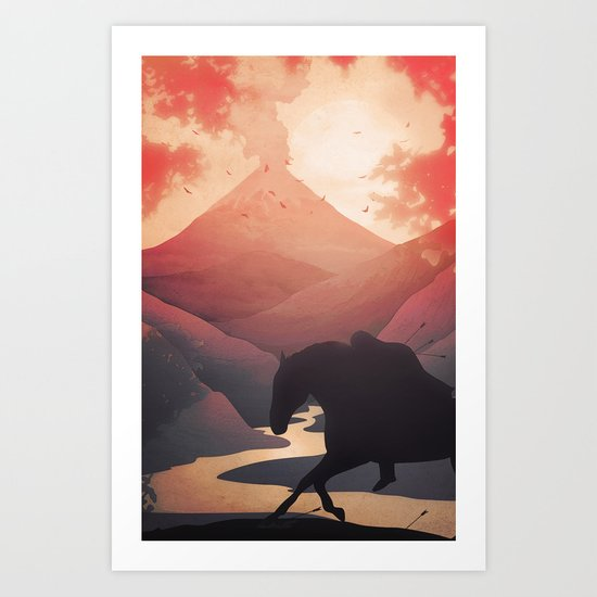 Last Farewell Ride Art Print