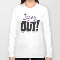 patriots Long Sleeve T-shirts featuring Laces out! by Chris Piascik