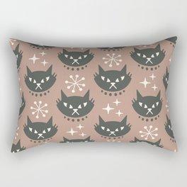 Retro Mid Century Modern Cat Pattern 332 Beige Rectangular Pillow