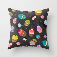 Cupcake day Throw Pillow