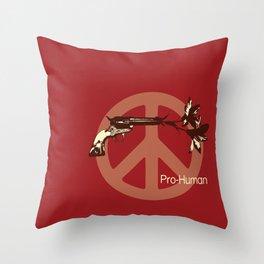 Pro Human Throw Pillow